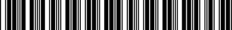 Barcode for 6947087001
