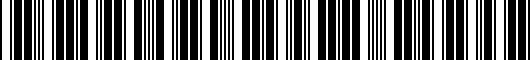 Barcode for 7252501030B1