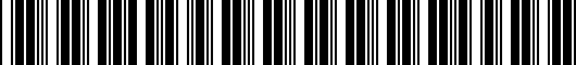 Barcode for 7461004040B0