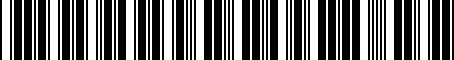 Barcode for 8198002030