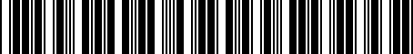 Barcode for 8463258011