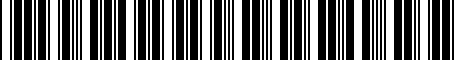 Barcode for 8498804060