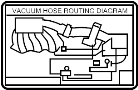 LABEL, ENGINE VACUUM HOSE INFORMATION