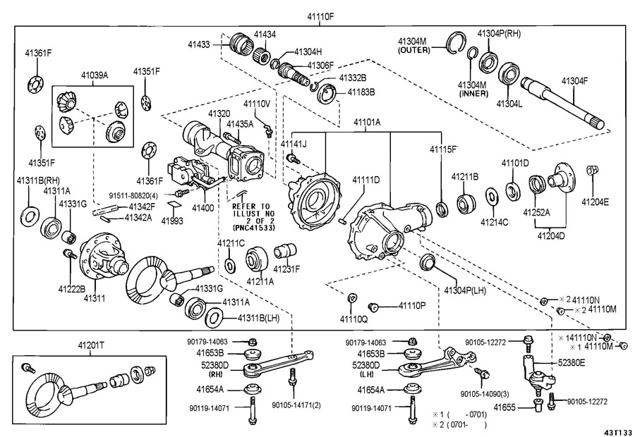 ShowAssembly likewise ShowAssembly besides Peterbilt Coolant Level Sensor Schematic also 94 Ford Explorer Wiring Diagram in addition RepairGuideContent. on toyota 4runner axle housing