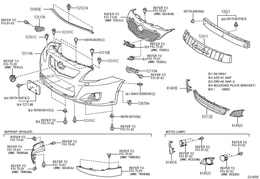 2014 ford mustang front bumper diagram