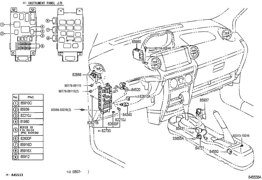 2004 Scion Xb Fuse Box on 1992 Honda Accord Radio Wiring Diagram